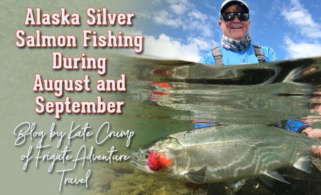 Alaska silver salmon fishing